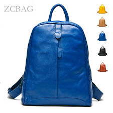 New 2015 Genuine Soft Leather Women Backpack Zipper Backpack Style Satchel Bag