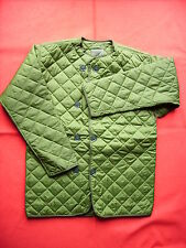 ARMY/RAFJACKET/LINER EXTREME COLD WEATHER BRITISH GREEN QUILTED + BUTTONS *NEW*