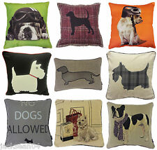 DOGS DOG BULLDOG SCOTTIE SAUSAGE DOG DACHSHUND CUSHION COVERS ****19 DESIGNS****