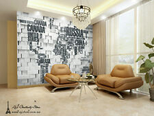Large 3D World Map Wall Paper Wall Print Decal Wall Deco wall Mural Home Kids