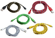 6ft Heavy Duty Braided 8 Pin Lightning Sync Data Charger Cable iPhone 5S iPod