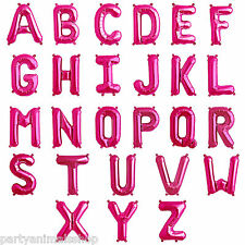 "16"" PINK Alphabet Letter Birthday Party A-Z Message Foil Balloons One Listing PA"