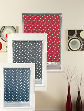 roller blinds polka dot. choice of sizes & colours