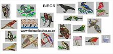 CD machine embroidery design files 20 BIRDS in 13 formats pes jef hus xxx etc