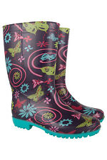 Womens Rain Buzzyfields Wellie Waterproof Wellington Boots Outdoor Wellies Sport