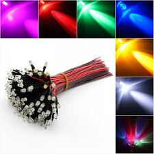 12V DC Pre Wired Ultra-Bright Clear 3mm LED Various Colours LED Lamp Light