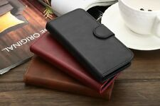 iPhone 5 5S Genuine Magnetic Leather Flip Case Cover Card Slot Stand Wallet