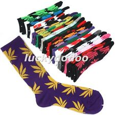 New Unisex 20 Colors Marijuana Weed Leaf Ankle High Sock Long Cotton Socks