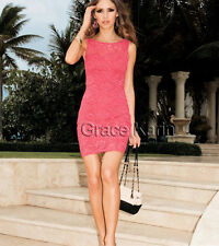 CHEAP SALE~Graceful Women Ladies Casual Slim Sleeveless Lace Cocktail Pub Dress