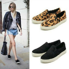 Women Leopard Fresh Casual Flat Loafers Slip on Ball Shoes Elastic Single shoes
