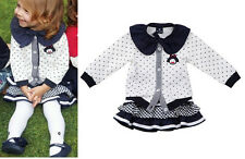 2pcs Baby Girls Kids Children Dot Top+Skirt Tutu Outfit Clothing Set Outwear