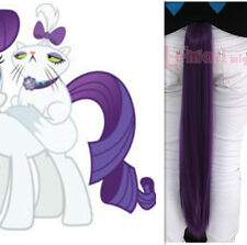 USA My Little Pony Rarity Purple Ponytail Extensions For Cosplay Party PJ29