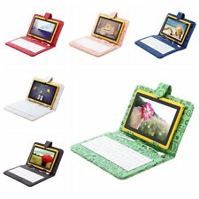 "IRULU 7"" Android 4.2 Tablet 8GB Dual Core Camera WIFI Yellow w/ Cartoon Keyboard"