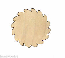Flower Unfinished Flat Wood Shape Cut Out Variety Sizes FS4727 Laser Crafts