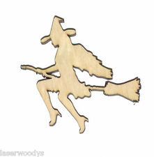 Sweet Witch Unfinished Flat Wood Shapes Cut Outs SW90017 Variety Sizes Crafts