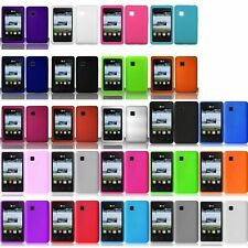 Various Colors Silicone Rubber Soft Case Cover Skin For LG 840G