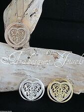 1x LARGE COIN/MONEDA LACE CRYSTAL HEART FOR GENUINE MI MILANO PENDANT/KEEPER