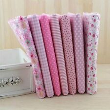 "7Assorted Pink Natrue Series Charm Cotton Quilt Fabric Fat Quarters 39"" x 59"""