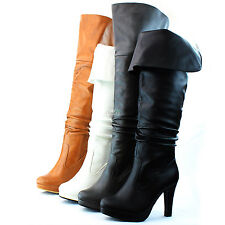 Over The Knee Boots Thigh High Platform Round Toe Two Way Wear Dress Women Shoes