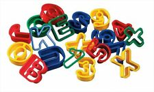 COOKIE PASTRY DOUGH CUTTERS 40mm ALPHABET LETTERS UPPER LOWER CASE & NUMBERS M/B