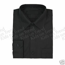Boys Formal Shirt Plain Long Sleeved Shirt Party Shirt Boys Shirt Age 0-15 Years