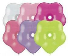 """Qualatex Geo Blossom Flower Shaped 6"""" Balloons x 5 - You Choose The Colour"""