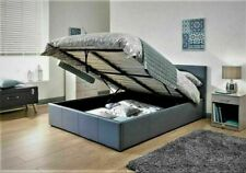 Double 4ft or 4ft 6 Faux Leather Ottoman Storage Bed In Black Brown Or White
