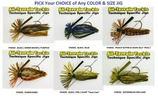 All Terrain Tackle Jigs - Finesse No Rattle - BULK 2 Pack - Any Color & Size