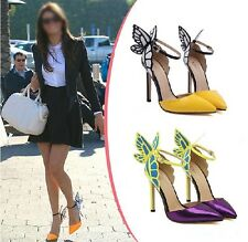 Hot Womens Sexy Butterfly Ankle Strap Pointed Toe Heel Stilettos Fashion Shoes