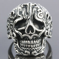 SZ 8-13 Rock&Punk Stainless Steel Skull Skeleton Head Men's Finger Ring Jewelry