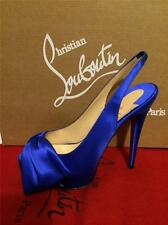 Christian Louboutin VENDOME SLING NODO Satin Bow Platform Heel Shoes Sandal $975