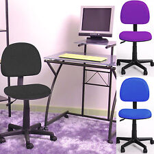 DESIGNER Height Adjustable Swivel Office Computer Chair Fabric Pads Seat UKSTOCK