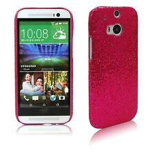 Luxury Bling Sparkle Glitter Hard Back Case Cover Shell For HTC One M8