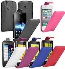 FLIP LEATHER CASE COVER POUCH FOR VARIOUS PHONE MODELS MAKE