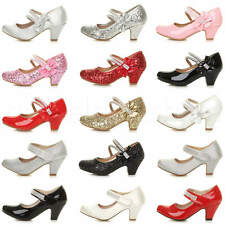 GIRLS CHILDRENS VELCRO KIDS PARTY WEDDING GEM MARY JANE STYLE SANDALS SHOES SIZE