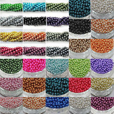 Wholsale 50pcs Top Quality Chic Czech Glass Loose Round Beads Jewelry Making 6mm