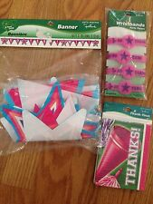 NEW HALLMARK CHEERLEADER PARTY supplies Thank you cards BANNER  bracelets FAVORS