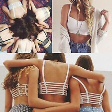 Sexy Padded Bra Crop Tops Women Sport Vest Cut Out Shirt Summer Beach Tank Tops