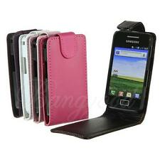 Flip Magnetic Leather Pouch Cover Case Hard w/Shell For Samsung Galaxy Ace S5830