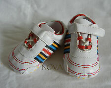 color stripe white girl boy shoes toddler shoes baby girl shoes US size1,2,3