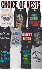 Mens Vests Tank Top Choose design for the Gym Weight Training Bodybuilding