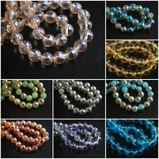 Mixed Color Round 96Faceted Glass Crystal Spacer Beads Craft Jewelry Finding 8mm