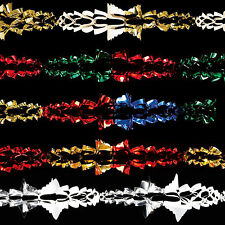 Christmas Ceiling Foil Decoration 20cm Garland - 5 Colours FO115054