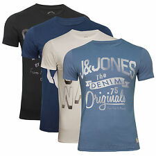 JACK & JONES HERREN  T - SHIRT PRINT CREW-NECK SLIM FIT Gr.S,M,L,XL,XXL