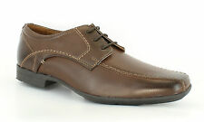 Mens Airsoft Gel Heel Brown Leather Smart Formal Lace Up Shoes Sizes 7 to 11