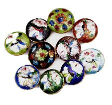 Hot 21mm Great Equisite Coin RoundCloisonne Beads Spacer Various 10pcs