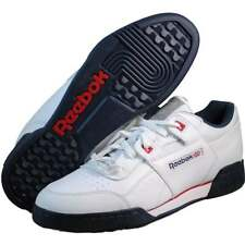 Reebok Mens Workout Plus Reflect White fashion sneakers