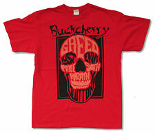"""BUCKCHERRY """"SKULL GLUTTONY ON RED"""" T-SHIRT NEW OFFICIAL ADULT 7 WAYS TO DIE"""