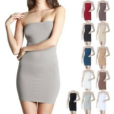 High Quality Seamless Strapless Tube Tunic Dress Good Stretch Sexy Span ONE SIZE