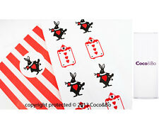 Coco&Bo Alice in Wonderland Party Invitation Stickers Mad Hatter Tea Queen Heart